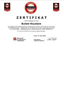 Zertifikat Waxoyl